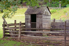 Little Outhouse on the Prairie (DaveLawler) Tags: wood fence outdoors bathroom solitude outhouse privacy throne crapper facilities littlehouse