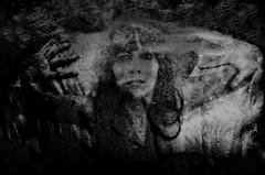 Dark window (sophie_merlo) Tags: bw blackandwhite noir dark zwartwit window ghostly ghost spooky halloween scary model woman glass horror art mono monochrome beauty portrait bn