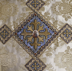 Queen and Mother of God (Lawrence OP) Tags: queenship blessedvirginmary ourlady queen washingtondc humeral veil embroidery cross icon enamel jesuschrist