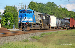 Half of the NS Blues Brothers: 1 (craigsanders429) Tags: norfolksouthern norfolksoutherntrains 4000 ns4000 bedfordohio nsclevelandline nsdctoacconversionlocomotives nslocomotives nsmotivepower