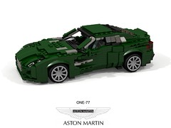 Aston Martin One-77 Coupe (lego911) Tags: aston martin one77 coupe v12 2009 2000s auto car moc model miniland lego lego911 ldd render cad povray uk england britain british lugnuts challenge 106 exclusiveedition exclusive limited special edition foitsop