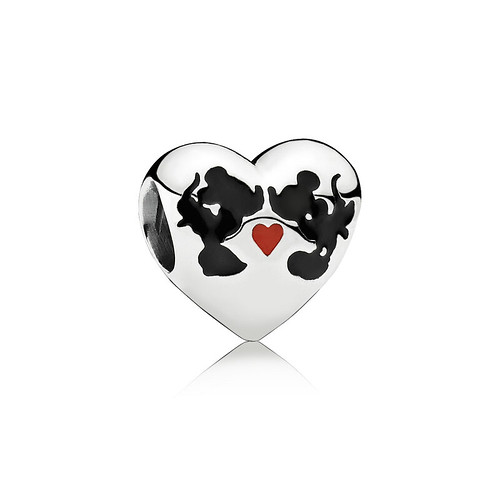 Disney Minnie Mickey Kiss Charm Pandora