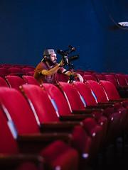 Ashton (BurlapZack) Tags: olympusomdem5markii olympusmzuiko45mmf18 vscofilm pack01 dallastx oakclifftx texastheatre oakclifffilmfestival ocff filmfestival video videocrew videographer videoproduction movietheater crew portrait candid availablelight handheld bokeh seats moviepalace rig