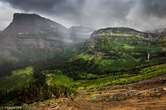 A Dramatic View from Going-to-the-Sun Road (Samantha Decker) Tags: canonef1635mmf28liiusm canoneos6d glaciernationalpark goingtothesunroad mt montana nps samanthadecker