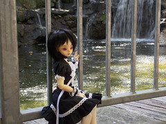 Pensive (Azubby) Tags: bjd luts kiddelf elfani elf waterfall gilroygardens