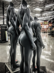 IMG_6970-Edit (jbrownell) Tags: sportsauthority monochromatic clearance outofbusiness mannequin nude sale headless creepy closing empty store sports iphone urban statue grainy gritty