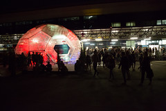 Photo showing an impression from the Opening of the 2016 Ars Electronica Festival (Ars Electronica) Tags: 2016 arselectronica arselectronica2016 arselectronicafestival arselectronicafestival2016 austria linz mediaart openingevent postcity radicalatomsandthealchemistsofourtime upperaustria art future science society technology arselectronicafestivalopeningevent