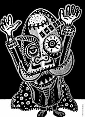 Cor de monstre 04 (Fernando Laq) Tags: monster monstruo monstre dibujo dibuix bn grises
