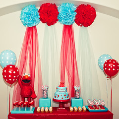 Elmo Birthday (cupcakedreamingparties) Tags: elmo birthday sesame street decoration party invitation cake tag favor cupcake