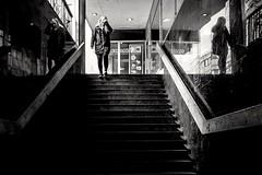 Stairway to headache (Per sterlund) Tags: stairs stairway stockholm sweden bnw bw baw blackandwhite monochrome city 2016 streetphotography street streetbw streetshot gatufoto strasenfotografie fotografiadistrada fotografadecalle photographiederue noiretblanc trappa svartvitt headache people panasonicgx7 panasonic