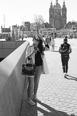 Inhale (Wookiee!) Tags: girl girls woman women feminine venus beauty pretty she smoke smoking cigarette tobacco addiction inhale puff candid street city urban life sneaky unposed unpolished bw blackandwhite monochrome streetview centre capital amsterdam 020 people human lens 35mm canon d550 raw summer hot warm 17 august 2016 wednesday xxx the netherlands holland dutch obsessive photograpy streetphotography straatfotografie amateur sharp prime nl noordholland day light sun sunny strangers wwwgevoeligeplatennl
