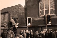 Mill Road Fayre - Cambridge (Michael McMillen) Tags: mill road cambridge fair fete fayre christmas jester hat makeup funny clown laugh digital