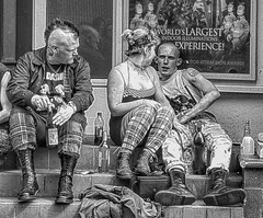 When the Punks Grew up 20 (lightandform) Tags: people punks street festival conflict strange attitude faces wanderers skinheads loitering