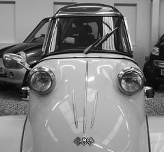 Messerschmitt (Hammerhead27) Tags: haynes classic old rare lights screen front mono bw blackandwhite german vehicle bubblecar messerschmitt