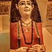 Another Vividly painted cartonnage mummy mask with dyed flax fiber hair of a woman Egypt Roman Period 1st century CE