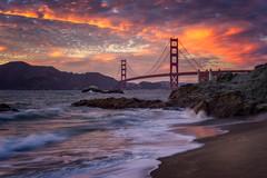 Baker Beach (IzTheViz) Tags: sanfrancisco goldengatebridge goldengate sunset bakerbeach