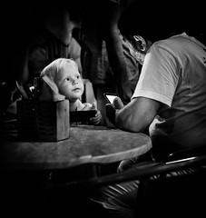 ellas-cook and small customer (a_milev) Tags: fujifilm people street fuji xtrans xf35mmf14 city urban monochrome blackwhite bw streetphoto streetphotography blackandwhite candid xt10 picture outdoor brno