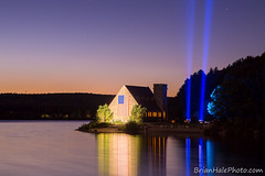 4-crop-watermark (Brian M Hale) Tags: oldstonechurch old stone church w west boylston westboylston ma mass massachusetts sunset memorial 911 nine eleven nineeleven september eleventh 2016 spotlights spotlight spotlite spot light twin towers twintowers tribute flag american america usa united states water wachusett reservoir lake pond reflections pool long exposure le longexposure canon 6d hdr high dynamic range photoshop lightroom brian hale brianhale brianhalephoto sky stars beautiful pretty somber sombre night time dark golden blue hour outdoors outside summer