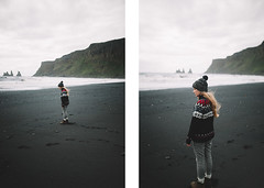 Black sands (Paulina Wierzgacz) Tags: adventure atlantic air summertime summer sky sea seaside shore sand view valley travel traveller trip travelling tourist trial town beach beauty blueicebergpl bucketlist black rocks rock cave discover dream road roadtrip reportage portrait people fun friends fjallraven island icewear iceland iceberg landscape plane crash dakota cliff coast clouds camping reynisfjara reynisfjall vík í mýrdal reynisdrangar dyrhólaey explore europe ocean offroad abandoned sólheimasandur hidden gems