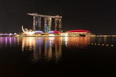 Singapore cityscape (tik_tok) Tags: cityscape singapore night marinabay skyline reflection f1 grandprix formula1 marinabaystreetcircuit marinabaysands