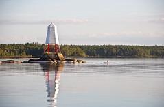 Viksns udde (johansson110) Tags: vnern mariestad sj lake vatten water fyr lighthouse hger klippa rock