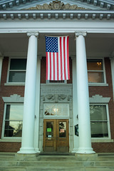 Stowe (jasohill) Tags: us vermont blue memorial flag american soldiers whtie life slice city stowe 2016 trip town red