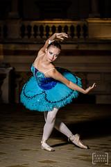 balet dancer in the heart of Budapest #3 (gab.imre) Tags: hungarian girl blue flash art night balet dancer nightshot budapest downtown