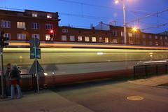 Przezroczysty tramwaj (magro_kr) Tags: gdask gdansk danzig polska poland pomorze pomorskie tramwaj ulica miasto wieczr wieczor wiato swiatlo tram street city evening light