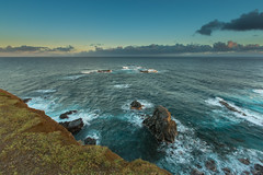 Pauwela Point Mongoose Trail (hawaiiansupaman) Tags: ocean morning cliff water clouds sunrise hawaii rocks surf waves haiku pacific maui pacificocean pauwela hawaiiansupaman