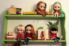 My Blythe doll family...
