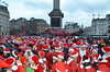 London's SantaCon2012 in Trafalgar Square