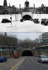 Queensway Tunnel Entrance 1934 and 2012 (Keithjones84) Tags: street old city building history liverpool archive comparison th