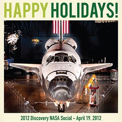 Got a nice email from @smithsonian #HappyHolidays #Discovery #OV103 #NASASocial #nofilter