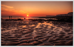 Just another Tequila sunrise..... (Box Brownie2009) Tags: sunset eastbourne lowtide eastsussex birlinggap patternsinthesand