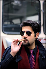 Crime Boss (Syed Sarmad Bukhari) Tags: boss portrait college 50mm cigar peshawar mafia