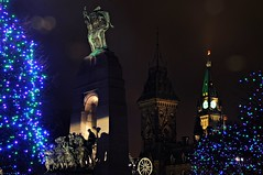 Peace to all (beyondhue) Tags: christmas ontario canada tree tower night dark lights memorial war peace ottawa parliament canadian cenotaph 2012 beyondhue