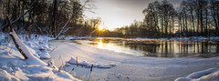 Frozen Sun (AlanScerbakov) Tags: winter panorama sun lake ice river nikon seasons logs 1855mm 2012 d3100 alanscerbakov