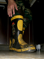 cimg0858_ () Tags: male yellow work boots military manly camo fireman firefighter wellies rubberboots mensshoes fireequipment solders