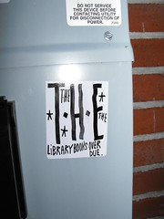 THE (Anything for thee Shot) Tags: cute portland hearts graffiti library stickers books oops slap emotional overdue xoxo sadeyes the ilikethem massivefine