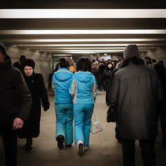 *** (danilaivan) Tags: street people colors underground moscow squareformat 2012