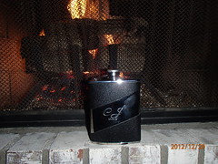 Best Man's Gift (cjacobs53) Tags: fire groom fireplace flask place whiskey gift cj jacobs clarence 121212 jacobsusa 112picturesin2012 2012picture