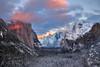 Winter Symphony (Willie Huang Photo) Tags: sunset snow mountains nature landscape nationalpark glow scenic merced tunnel sierra valley yosemite halfdome yosemitenationalpark euclid elcapitan blizzard bridalveilfalls yosemitevalley tunnelview