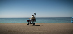 Nice wheelchair (Tedichi Grottiano) Tags: ocean old people man speed nice horizon wheelchair