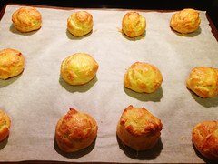 Gougeres (French Cheese Puffs) | www.oliviascuisine.com | A delicate savory
