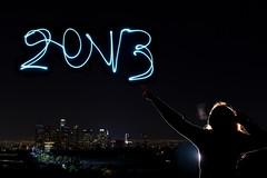 1/52: Happy New Year, Los Angeles! (CodySLR) Tags: new city eve winter silhouette skyline night happy los long exposure cityscape angeles nye smith celebration newyears years cody 2012 decemeber 2013 strobist 5dmkii lumoprolp160 codyslr