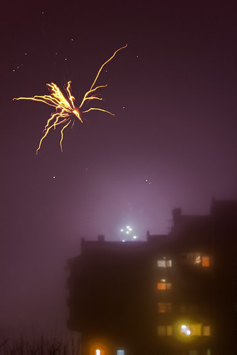 Fireworks in fogy night (1/52)