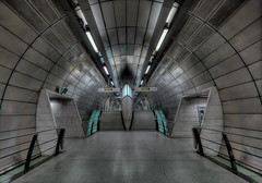 Star Trek (roken-roliko) Tags: uk startrek england london lines underground subway symmetry hdr futuristic canonef14mmf28lusmii canon5dmarkiii photoshopcs5 topazdenoise5 rolandshainidze photomatixprop