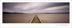 Warners Bay Jetty (Maxwell Campbell) Tags: longexposure sunset portrait panorama sun lake seascape storm rain weather clouds newcastle landscape photography pier wind jetty australia nsw macquarie warnersbay hunterregion maxwellcampbell