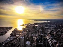A Toronto Sunset (Christian Lambert Photography) Tags: sunset toronto canada tower cn harbor nikon harbourfront s3000 dvcphoto92