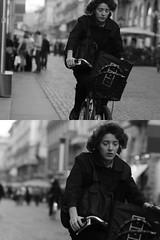 [La Mia Città][Pedala] (Urca) Tags: portrait blackandwhite bw italia milano bn ciclista biancoenero 2012 bicicletta pedalare dittico ritrattostradale nikondigitalefilippetta 473100